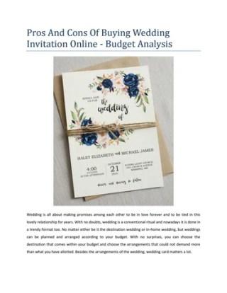Cons Of Ing Wedding Invitation