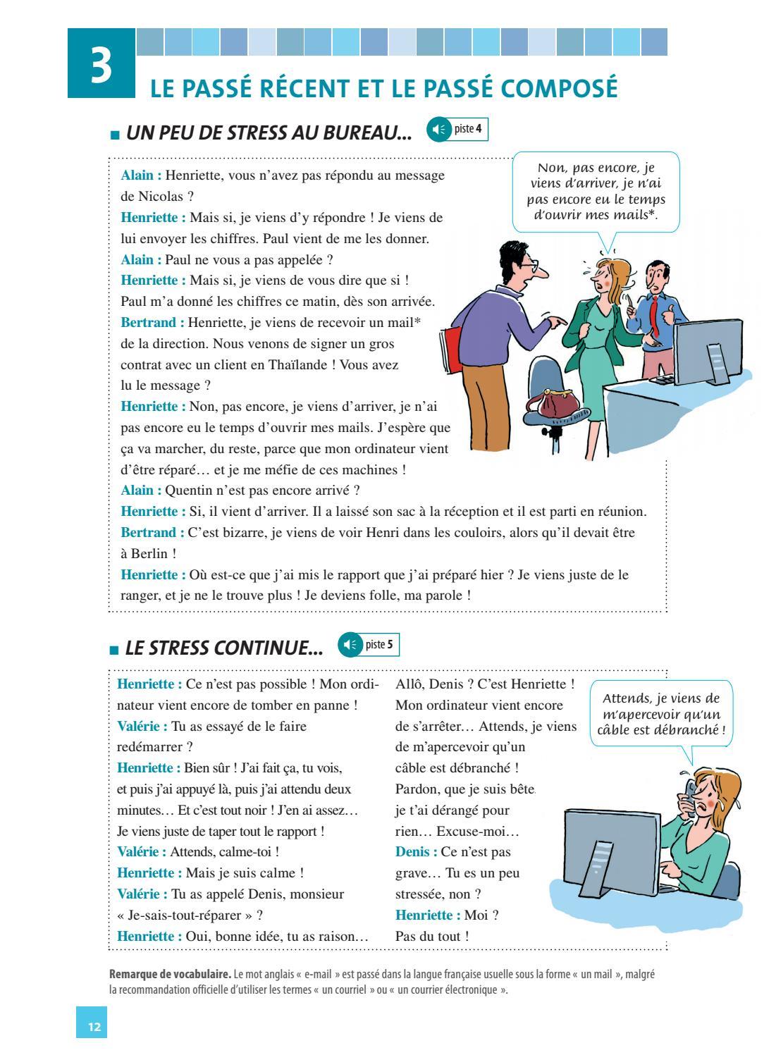 Je Viens De M Apercevoir : viens, apercevoir, Extrait, Grammaire, Dialogues, International, Issuu