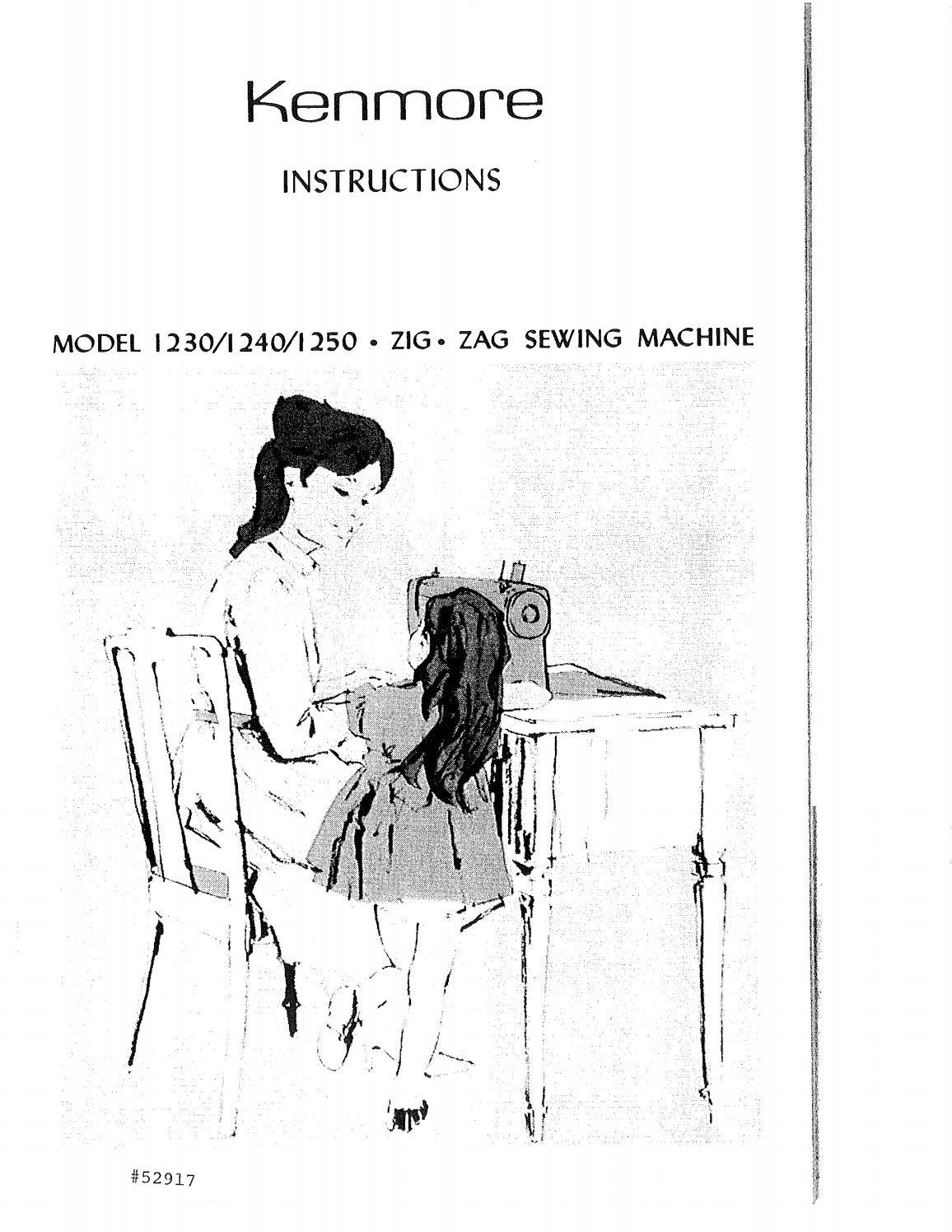 Kenmore 1230 sewing machine user manual by David Mannock