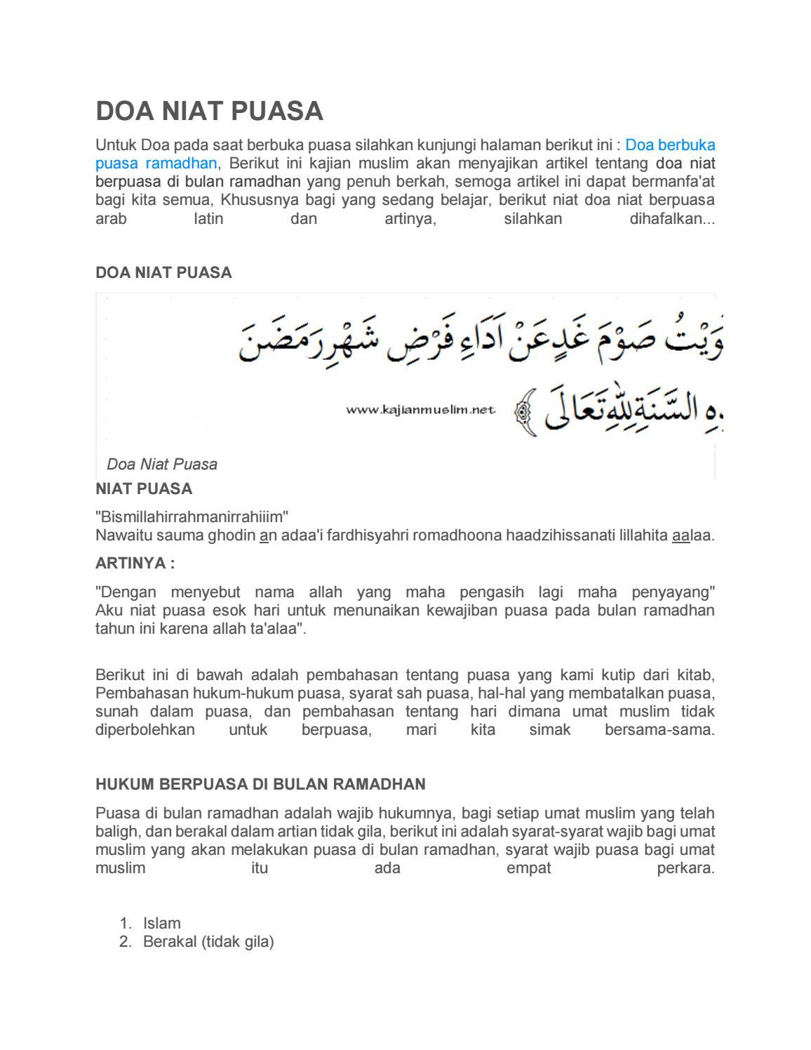 Doa Buka Puasa Senin Kamis : puasa, senin, kamis, Puasa, Kajian, Muslim, Issuu