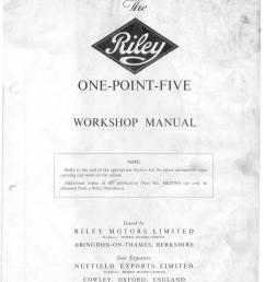 riley one point five workshop manual [ 1158 x 1493 Pixel ]