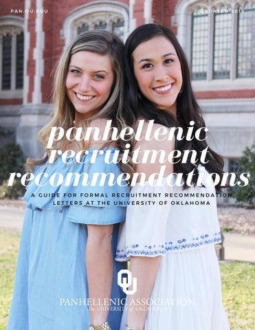 Formal Recruitment Recommendation Letter Guide - OU Panhellenic by ...
