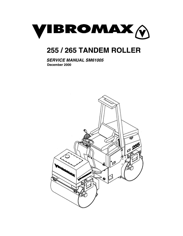 Jcb vibromax 255 tandem roller service repair manual by