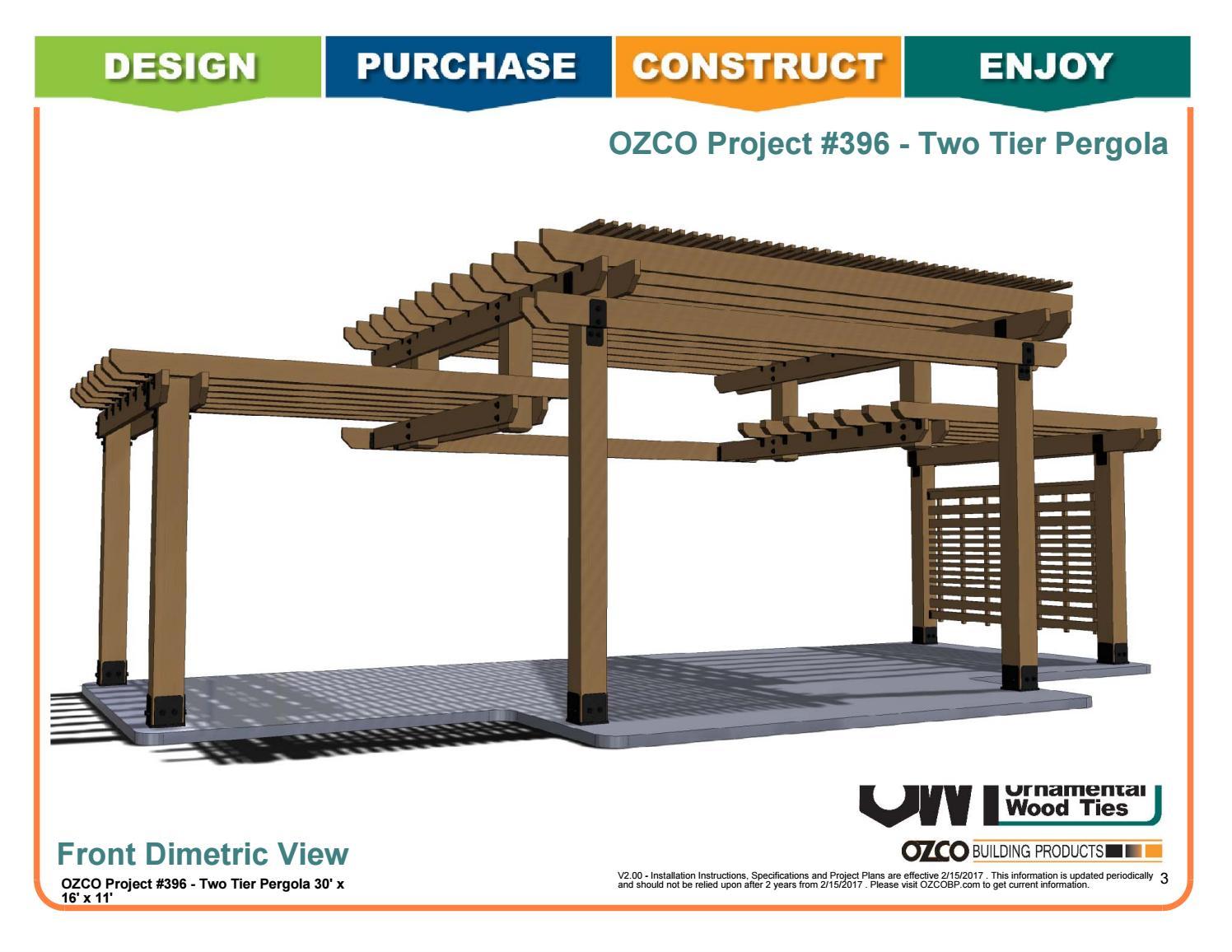 Ozco Project Two Tier Pergola 396 By Ozco Building