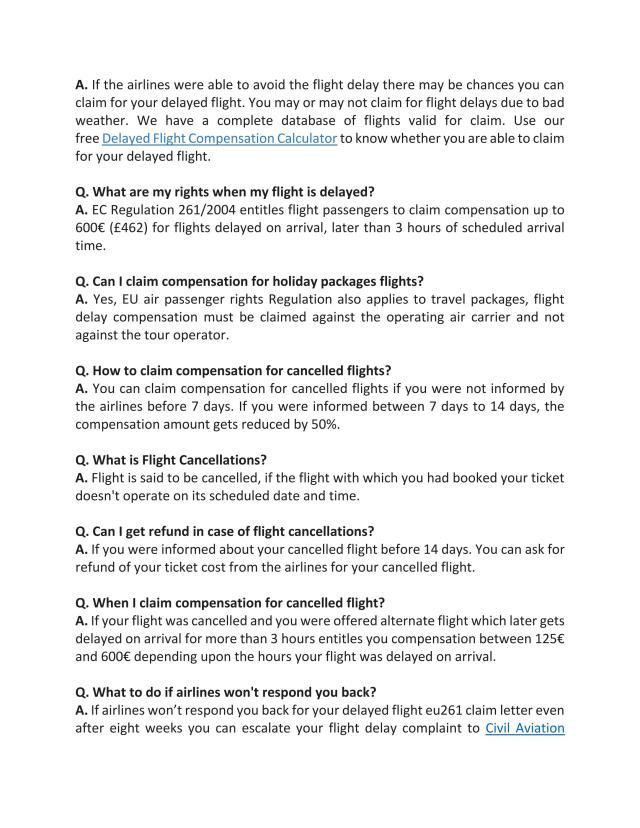 Flight Compensation Letter Template  Vebuka.com
