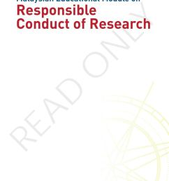 malaysian educational module on responsible conduct of research by academy of sciences malaysia issuu [ 1058 x 1497 Pixel ]