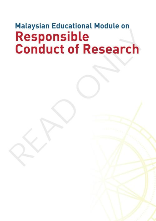 small resolution of malaysian educational module on responsible conduct of research by academy of sciences malaysia issuu