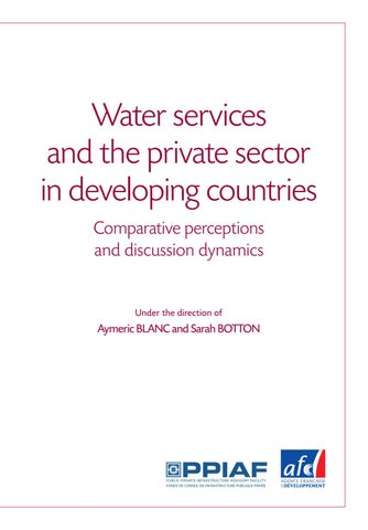 Water Services And The Private Sector In Developing