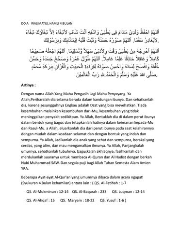 Bacaan Walimatul Hamli - recipe.atirta13.com