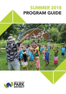 West Chicago Park District - Summer 2018 Program Guide
