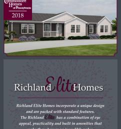 commodore homes of pennsylvania richland elite 2018 by the commodore corporation issuu [ 1156 x 1496 Pixel ]