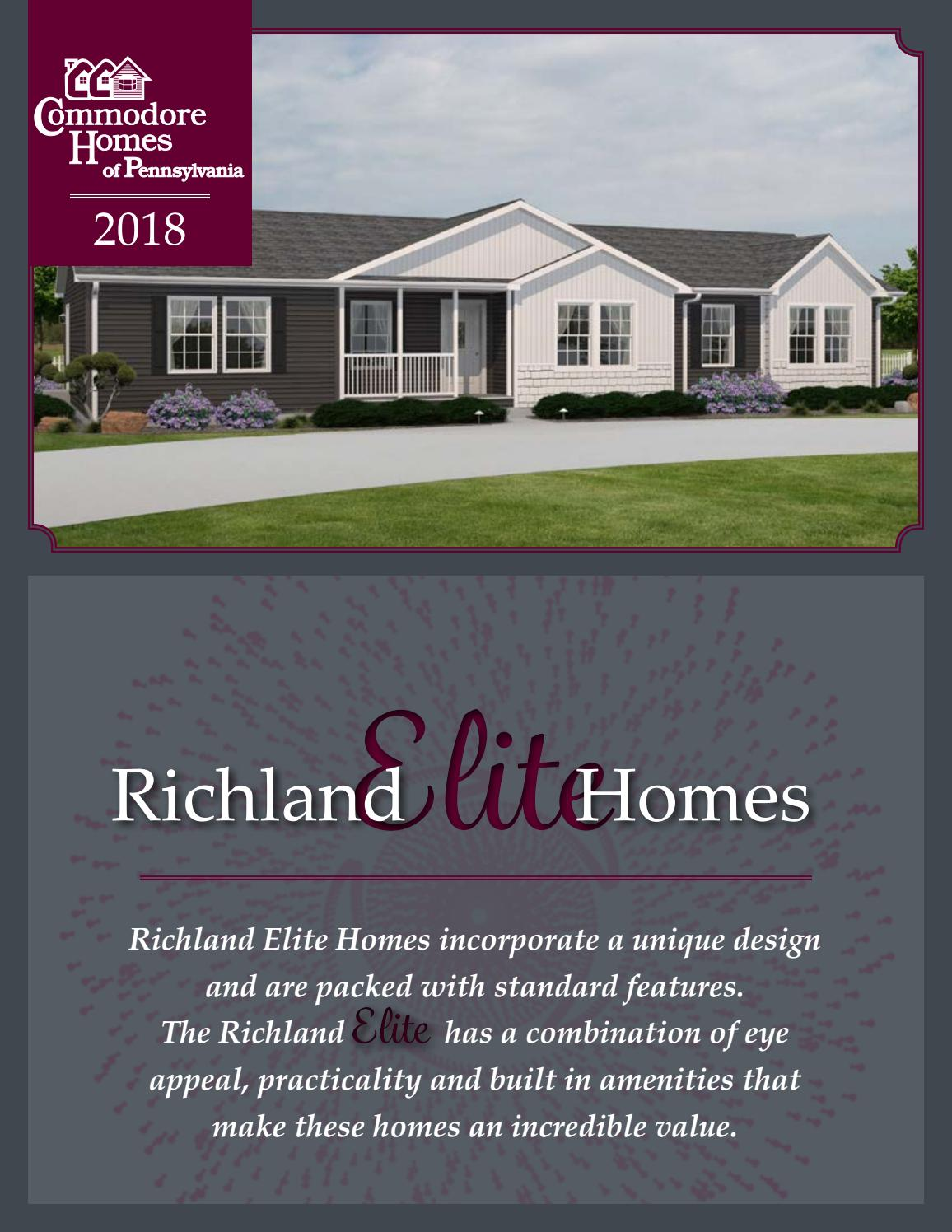hight resolution of commodore homes of pennsylvania richland elite 2018 by the commodore corporation issuu