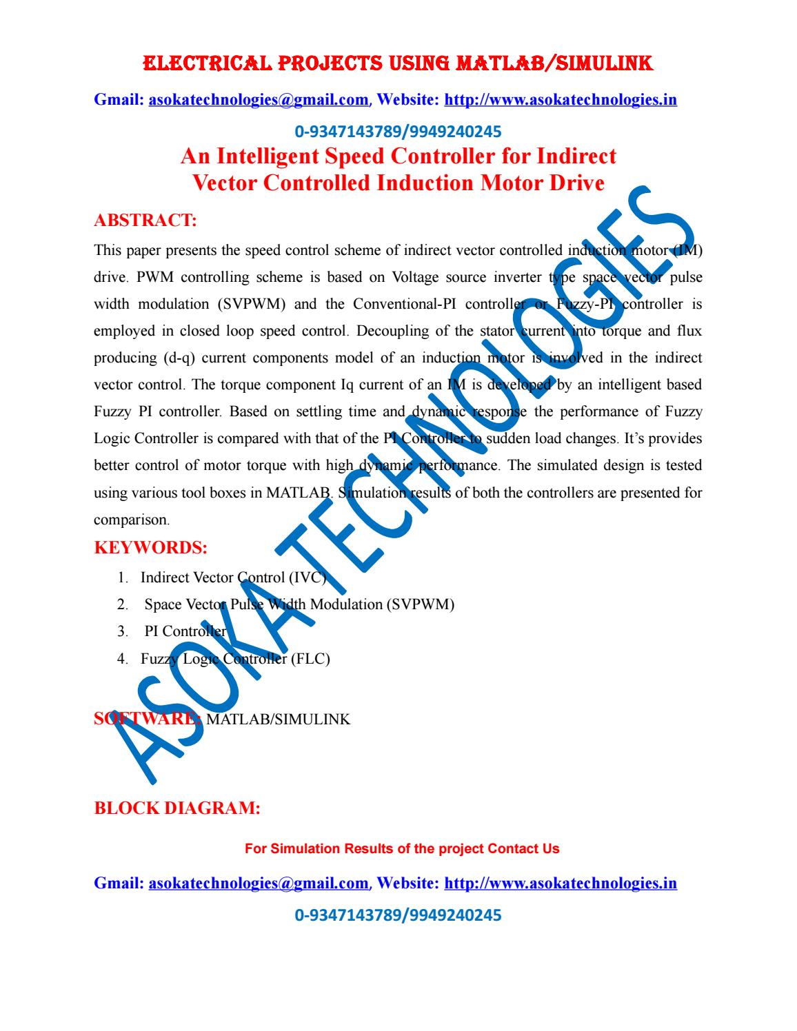 hight resolution of an intelligent speed controller for indirect vector controlled induction motor drive