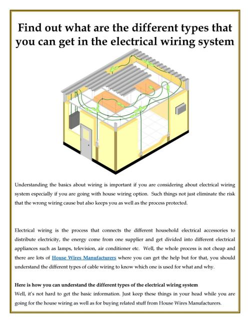 small resolution of different types that you can get in the electrical wiring system by ultracab issuu