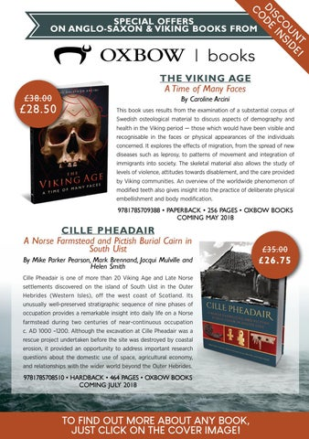 Anglo Saxon And Viking Special Offers From Oxbow Books By Casemate