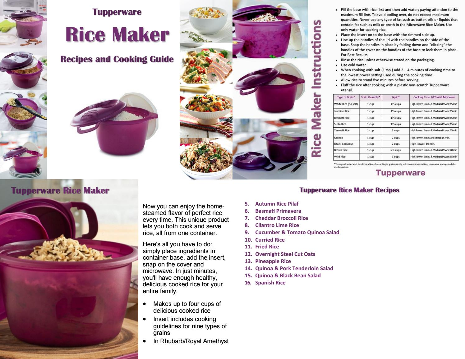 tupperware rice maker recipes and