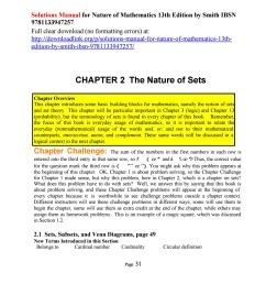 solutions manual for nature of mathematics 13th edition by smith ibsn 9781133947257 [ 1156 x 1496 Pixel ]