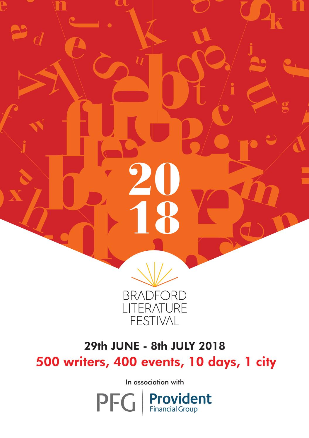 hight resolution of bradford literature festival 2018 programme