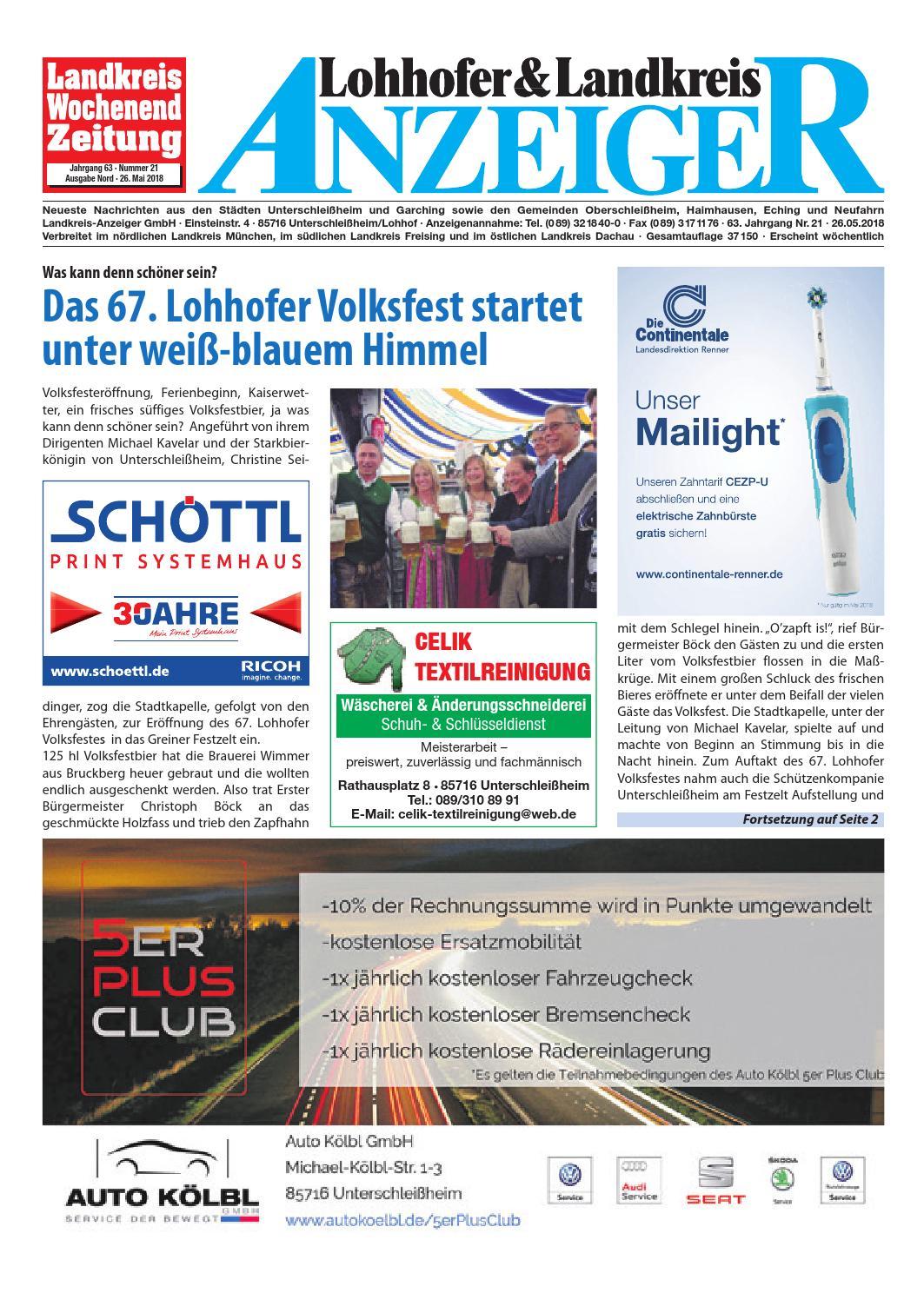 Lohhofer & Landkreis Anzeiger 2118 By Zimmermann Gmbh Druck & Verlag