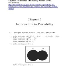solutions manual for probability and statistics with r for engineers and scientists 1st edition by m [ 1156 x 1496 Pixel ]