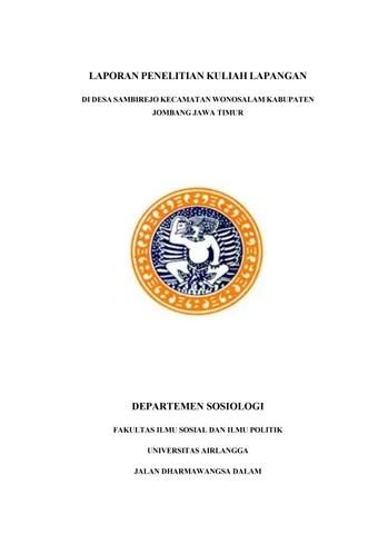 Laporan Penelitian Sosiologi : laporan, penelitian, sosiologi, Laporan, Kuliah, Lapangan, Tipologi, Sosial, Masyarakat, Sambirejo,, Kecamatan, Wonosalam,, Kabupat, Mukhammad, Fatkhullah, Issuu