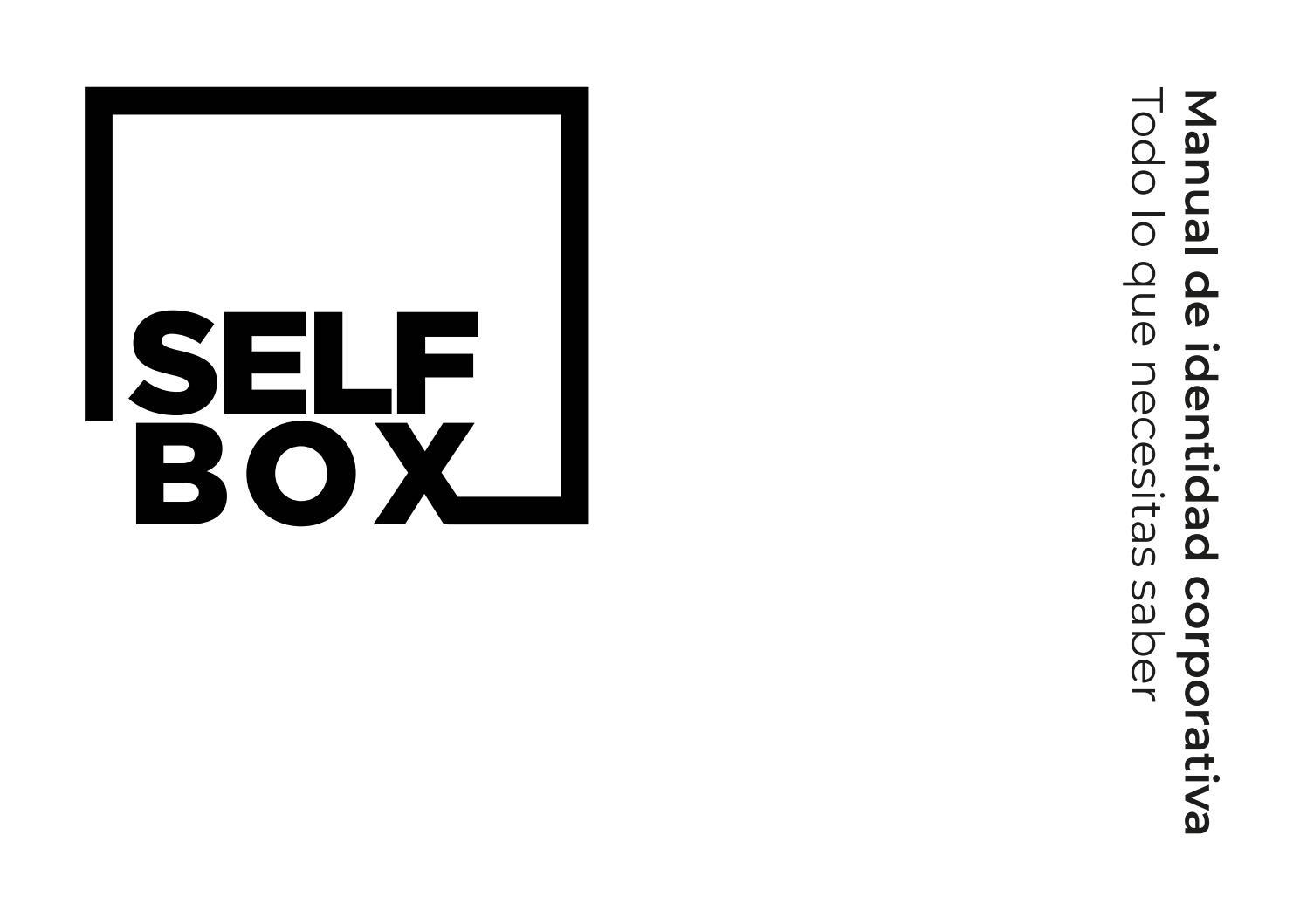 [SELF BOX] Manual de identidad corporativa by Pablo Maria