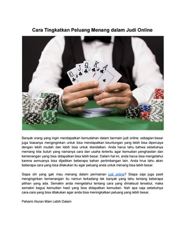 Cara Supaya Menang Judi Kartu : supaya, menang, kartu, Tingkatkan, Peluang, Menang, Dalam, Online, Ahmadfauzi1564, Issuu