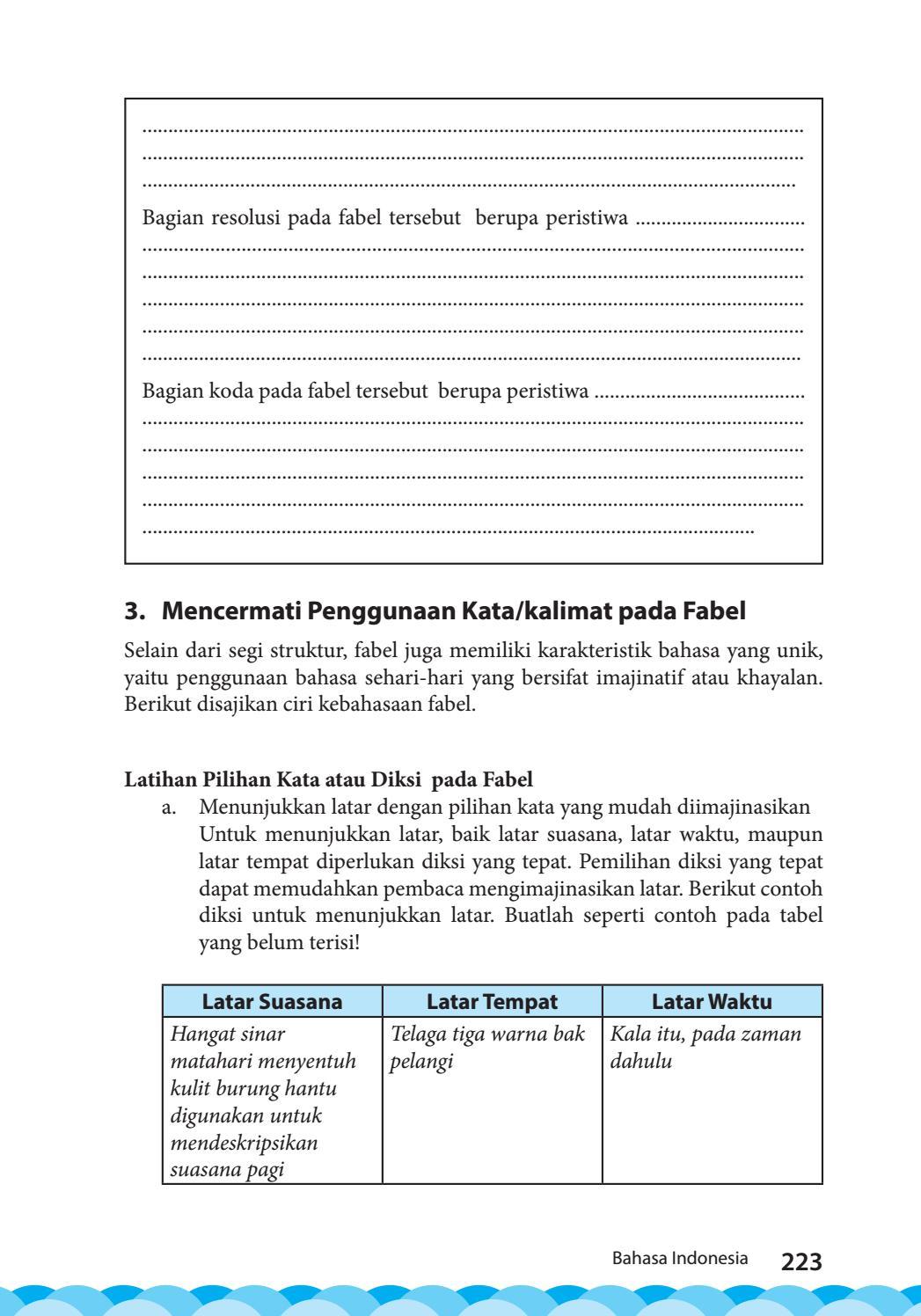 Contoh Latar Tempat : contoh, latar, tempat, Kelas, Bahasa, Indonesia, Siswa, GALLERY, AZZAM, Issuu