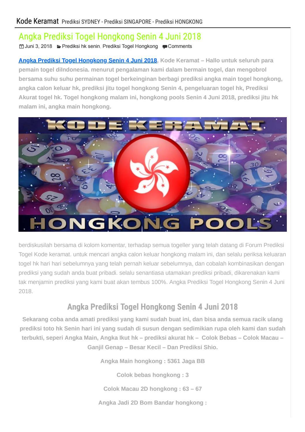 Togel Hkg 2018 Hari Ini Hongkong 2019 : togel, hongkong, Result
