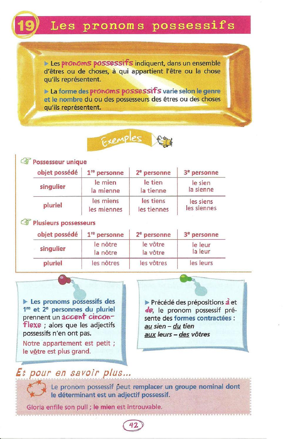 Le Tien Ou Le Tiens : tiens, Règles, Grammaire, Vebuka.com