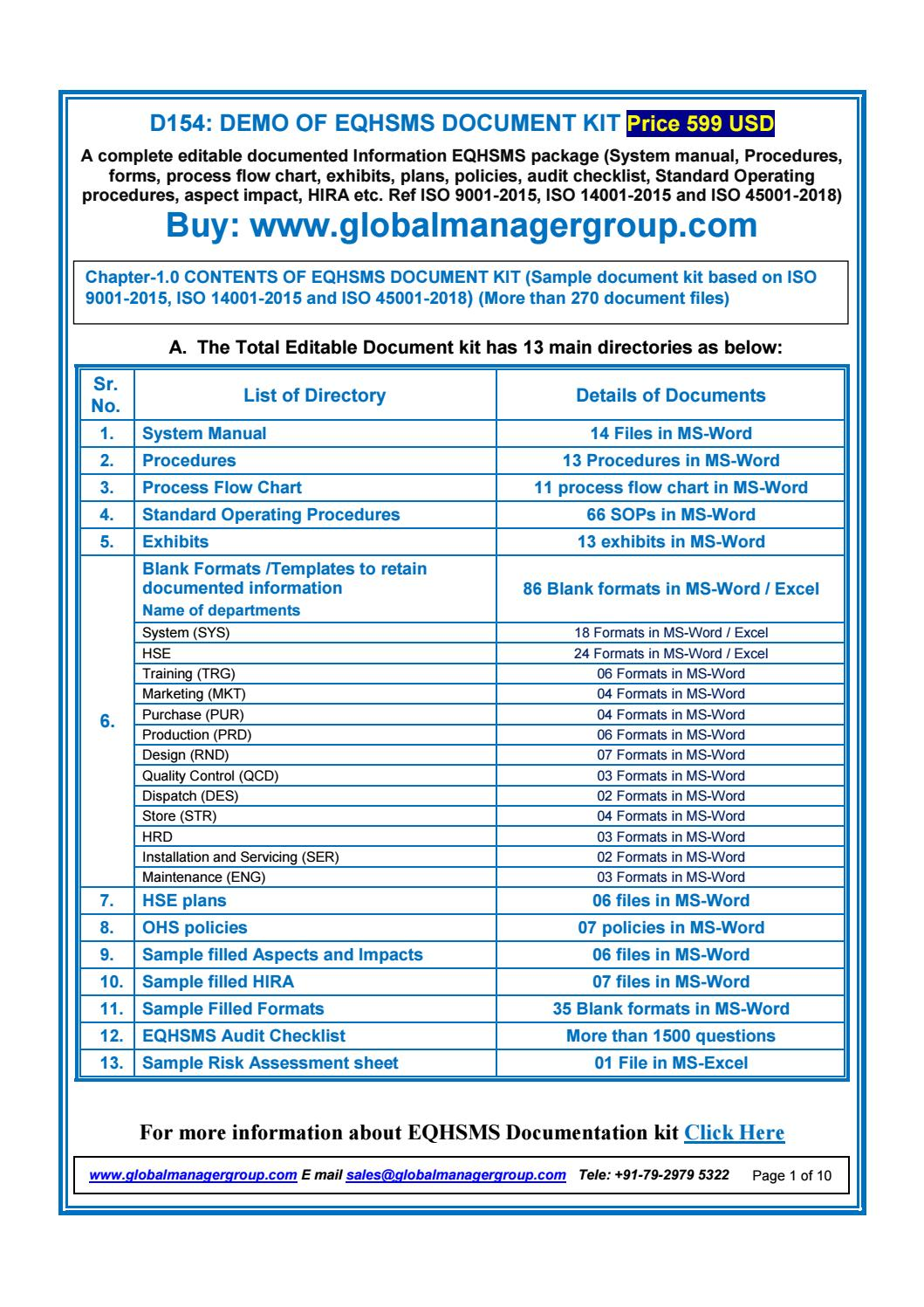 hight resolution of eqhsms documents with iso 9001 2015 iso 14001 2015 iso 45001 2018 requirements by global manager group issuu