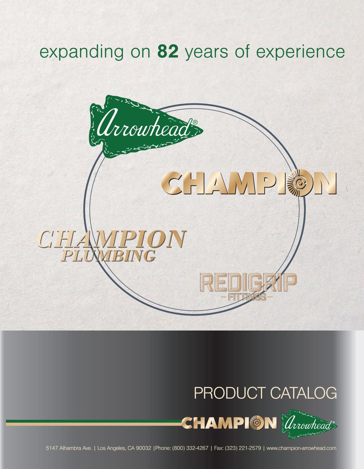 hight resolution of champion arrowhead product catalog