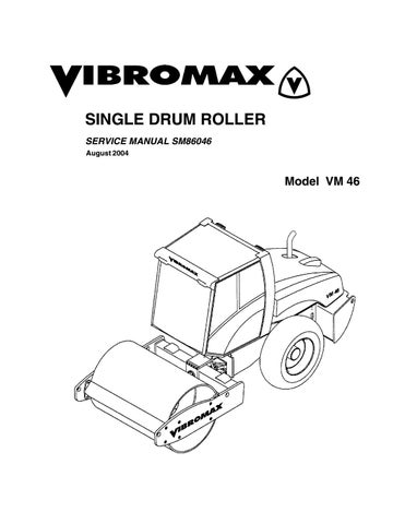 Jcb vibromax vm46 single drum roller service repair manual