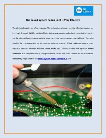 Sound System Repair : sound, system, repair, Sound, System, Repair, Effective, Electric, Issuu