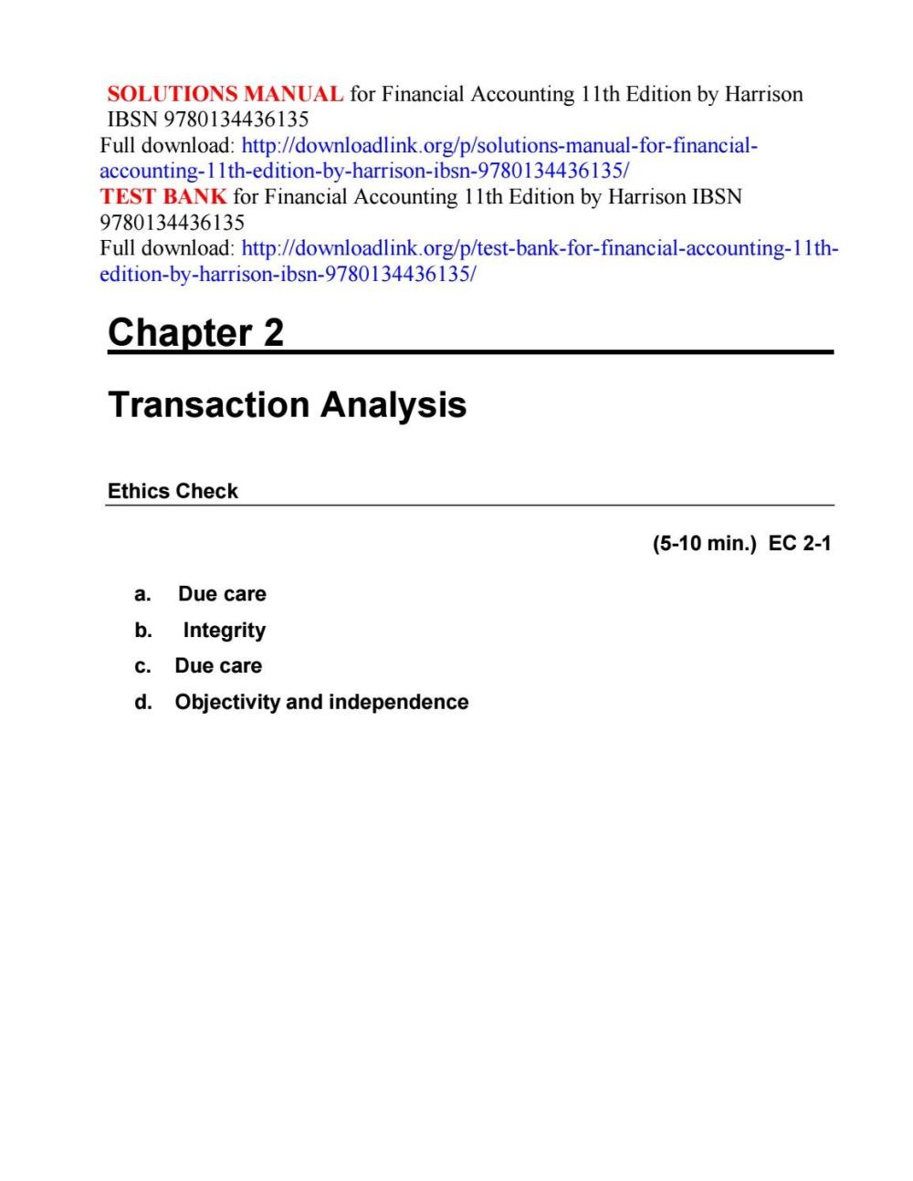 medium resolution of Solutions manual for financial accounting 11th edition by harrison ibsn  9780134436135 by ftgaec - issuu