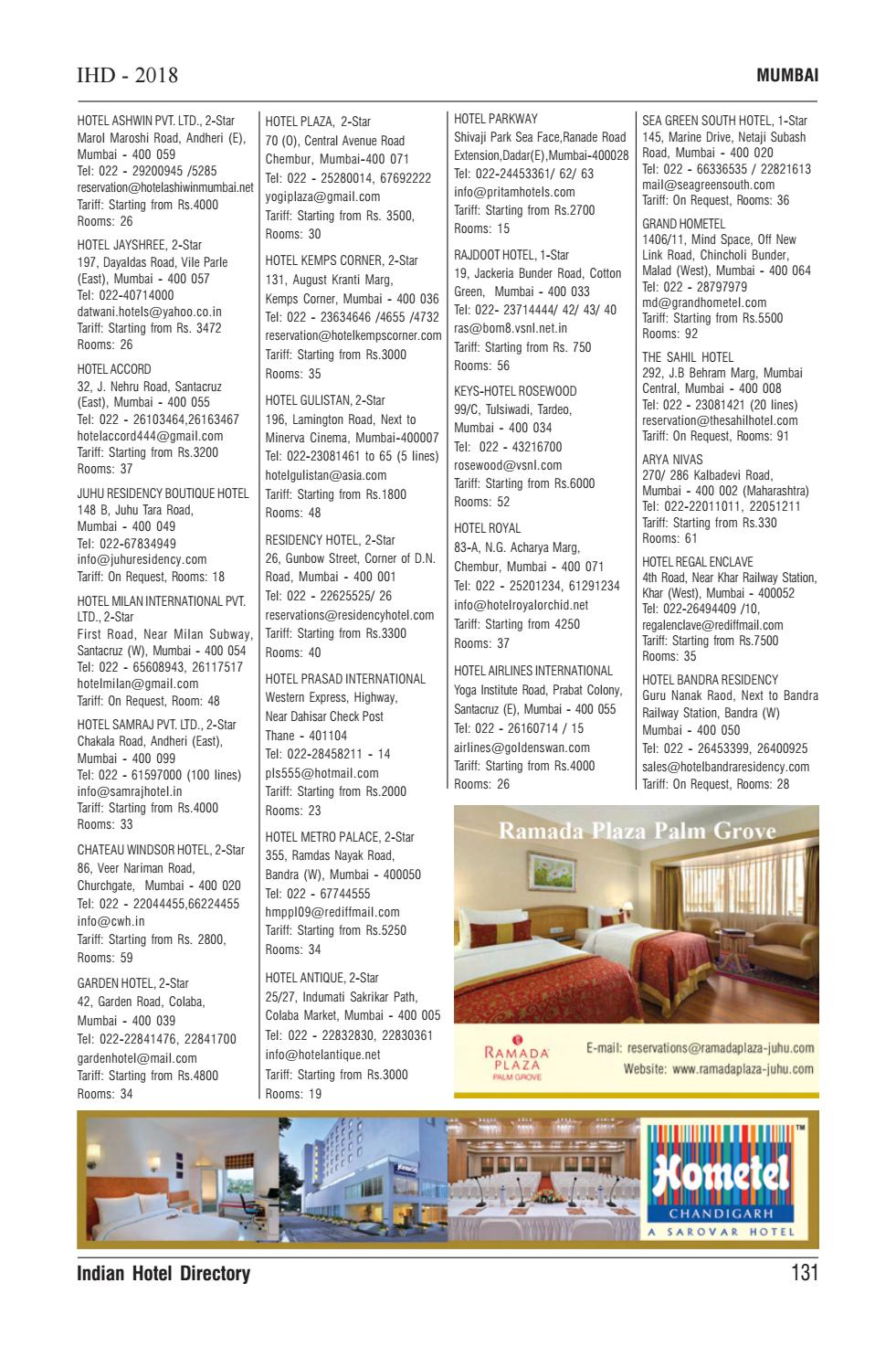 Ihd Indian Hotel Directory 2018 By Perfect Multimedia Issuu