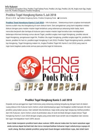 Prediksi Hk Master Hongkong Kamis : prediksi, master, hongkong, kamis, Prediksi, Togel, Hongkong, Kamis, Kuburan, Angka, Keramat, Issuu