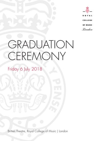 Royal College of Music Graduation programme 2018 by Royal