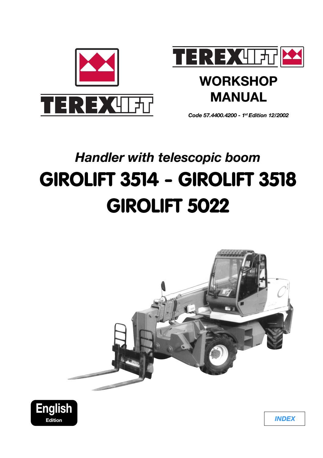 TEREX GIROLIFT 3514 TELESCOPIC HANDLER Service Repair