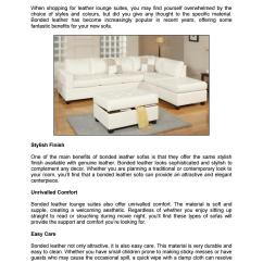 Clean Leather Sofa With Damp Cloth Children S Settee The Benefits Of Bonded Sofas By Chaisesofas Issuu