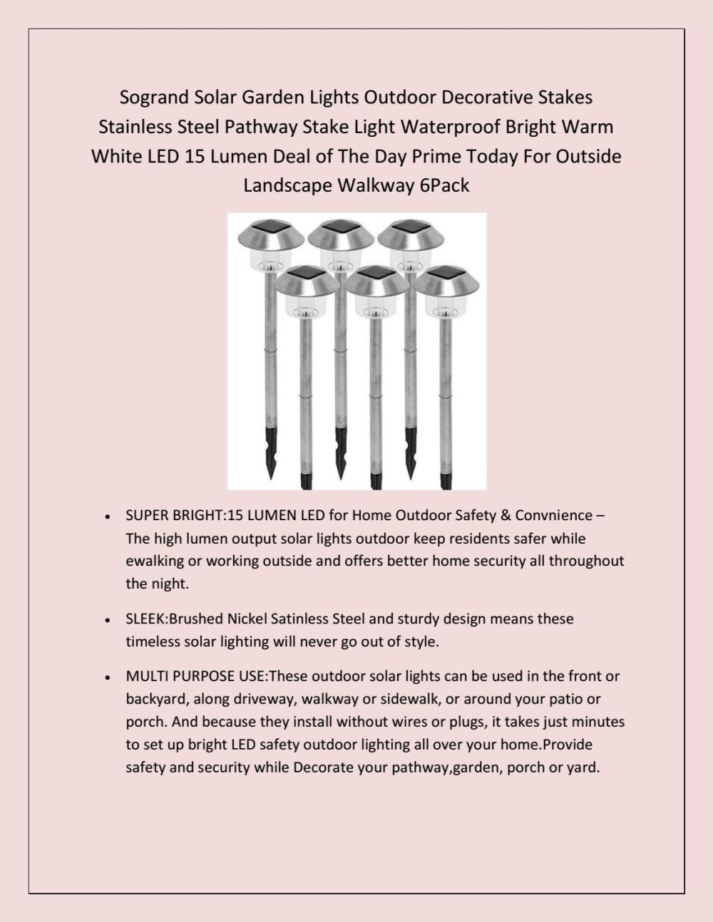medium resolution of prime day deals 2018 stainelss steel solar yard lights outdoor stakes bright led by dicosta sherry issuu
