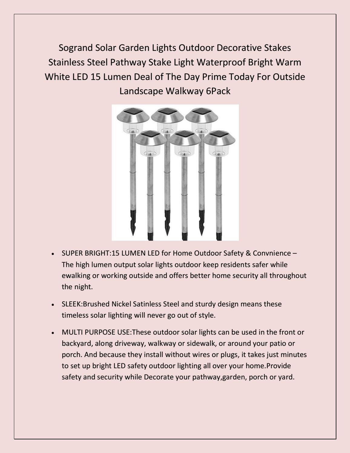 hight resolution of prime day deals 2018 stainelss steel solar yard lights outdoor stakes bright led by dicosta sherry issuu