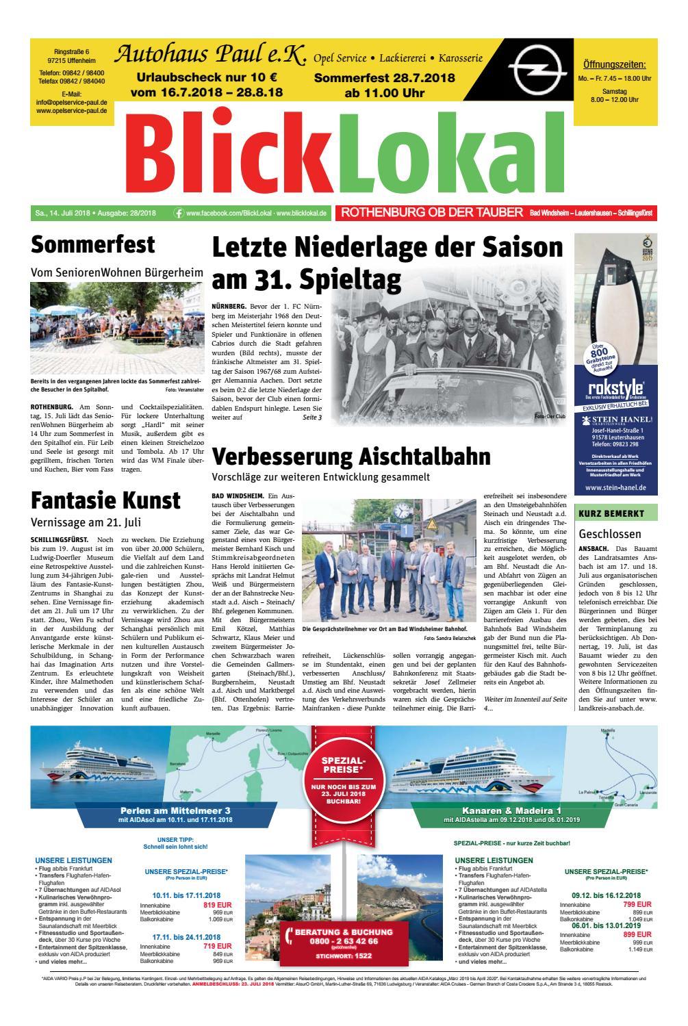 Blicklokal Rothenburg Kw 28 By Blicklokal Wochenzeitung - Issuu