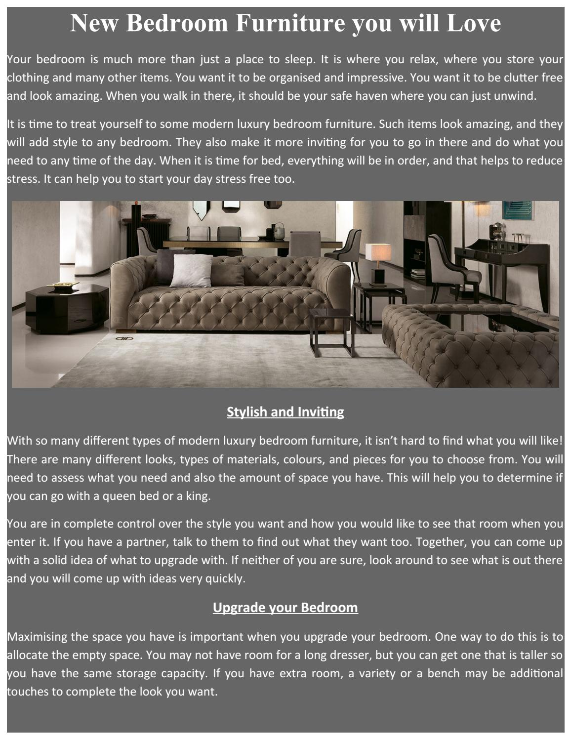 New Bedroom Furniture You Will Love By Tulipinterior1 Issuu