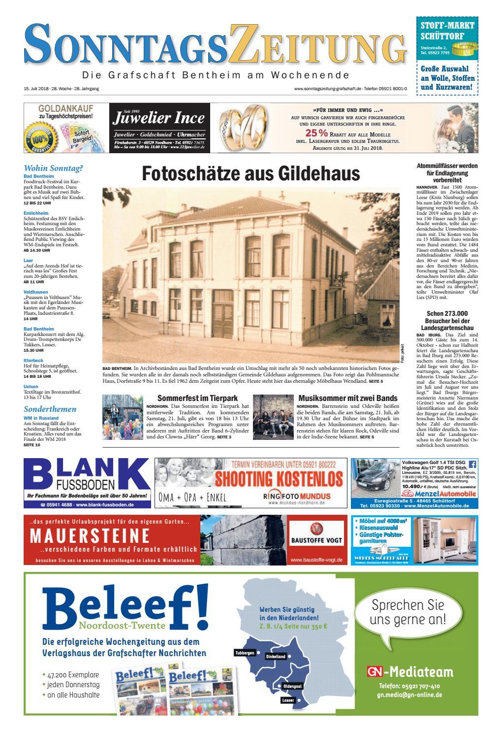 SonntagsZeitung_15072018 by Grafschafter Nachrichten  Issuu