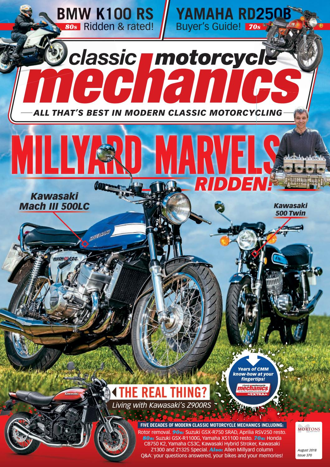 hight resolution of classic motorcycle mechanics august 2018 by mortons media group ltd issuu