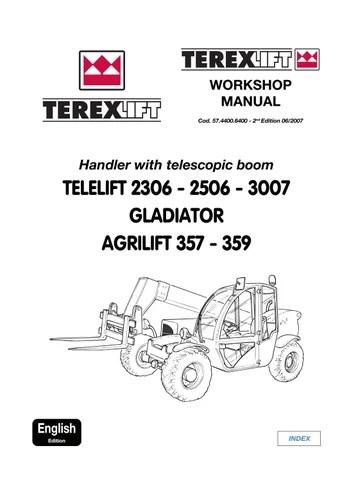 TEREX TELELIFT 3007 GLADIATOR AGRILIFT TELESCOPIC HANDLER