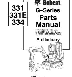 bobcat 331g excavator parts catalogue manual sn 234311001 and above by 163610 issuu [ 1058 x 1497 Pixel ]