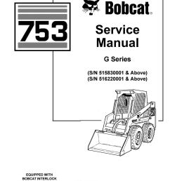 bobcat 753 skid steer loader service repair manual sn 515830001 above sn 516220001 above by 163610 issuu [ 1156 x 1496 Pixel ]