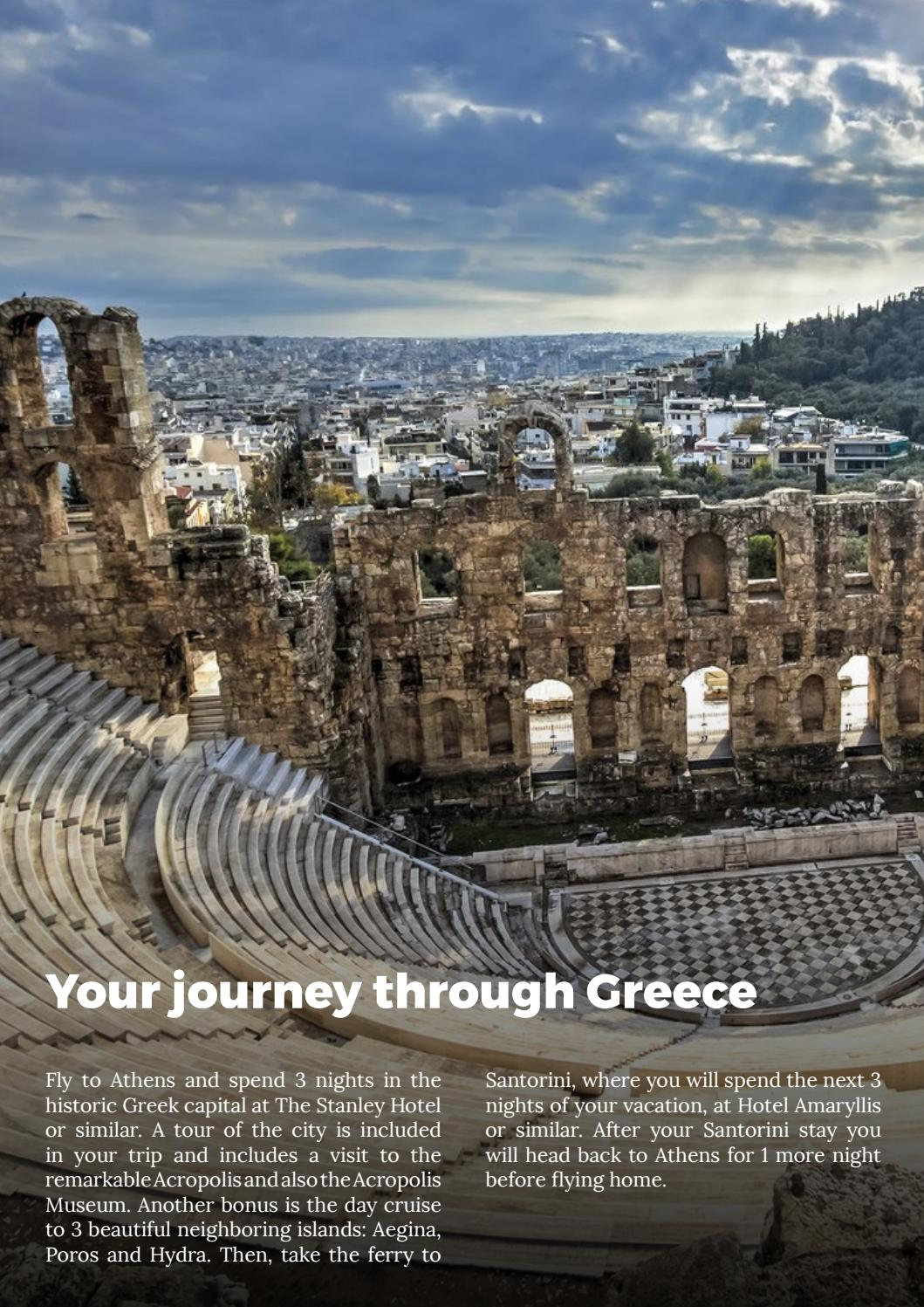 Usa Magic Of Greece Athens Santorini Greece Vacation